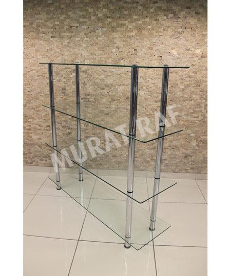 140 cm Camlı Borulu Stand