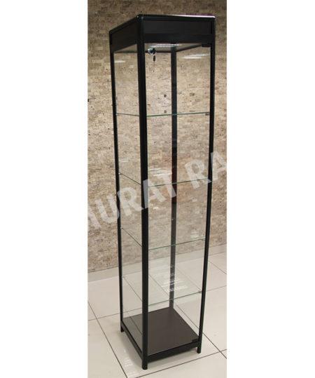 Camlı Vitrin Siyah 40 cm